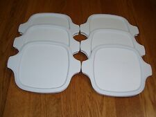 6 NEW Corning Ware P-41 P-43 Petite White Storage Cover Lids, FREE SHIPPING