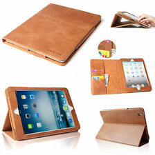 New Premium 100% Genuine Leather Smart Case Cover For iPad 2 3 4+Gift