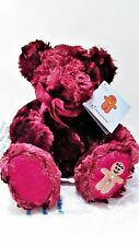 "RUSS Berrie - CINNAMON Red Bear Chrismas Plush Beanie - 8"" long- gingerbread man"