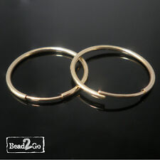 1 x Pair of 14k Gold Filled 21mm Tube Hoop Sleeper Earrings - Classic Gold Hoops