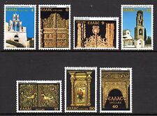 Greece - 1981 religious art & churches - Mi. 1462-68 MNH
