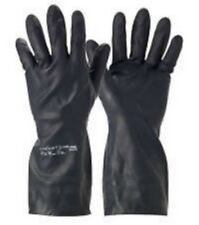 1 Pr Ansell 29-500 Black Chemical Resistant Gauntlets Gloves Size 7 Small #17E21