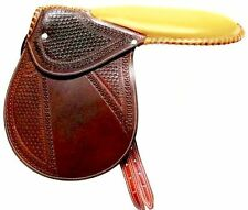 D.A.Brand Fancy Tooled Dark Brown Leather Racing Exercise/Training Saddle Equine