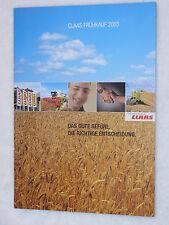 Claas récolte technique frühkauf 2003-prospectus brochure 2003 (0294