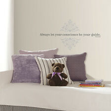 New Pinocchio ALWAYS LET YOUR CONSCIENCE WALL DECALS Disney Stickers Kids Decor