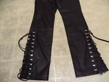EXCELLENT COND FEW TIMES USED HARLEY DAVIDSON LEATHER PANTS WON 40/12 MOTORCYCLE