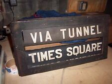VINTAGE NYC SUBWAY COMPLETE ROLL SIGNS ORIGINAL BOX BMT STANDARD TRANSIT HISTORY