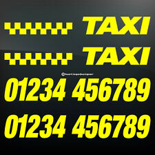 CUSTOM TAXI NUMBER Phone Economy Car Advertising Vinyl Signwriting Decal Sticker
