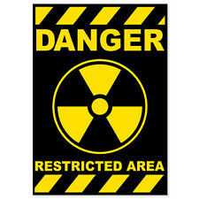"Nuclear Danger Warning sign sticker decal 4"" x 6"""
