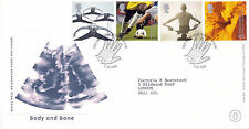 3 OCTOBER 2000 BODY & BONE ROYAL MAIL FIRST DAY COVER GLASGOW XRAY SHS