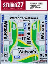 """1:24 1993 BMW 318i """"Watson's"""" Macau Race decal set by Studio 27 ~ DC1107"""