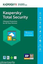 New Kaspersky Total Security with AntiVirus 2017 ( not 2016 ) , 5 devices 1 Year
