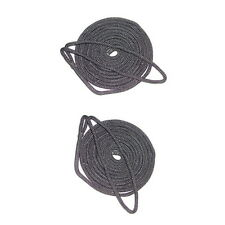 2 Pack of 1/4 Inch x 6 Ft Black Double Braid Nylon Fender Lines for Boats
