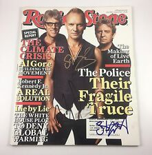 The Police Sting Rolling Stone Magazine Signed Autographed June 2007 PROOF COA