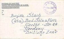 KRIEGSGEFANGENEN Faltbrief 1947 aus England