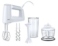 Braun Multi-Mix 3 Hand Mixer, 500 W, White