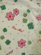 New w/ Tag SMALL Nick & Nora KISS ME Irish Shamrock Pajama Top Sleep Shirt OOP!!