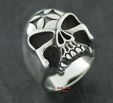 Ring Silberring TOTENKOPFRING Eisernes Kreuz Rockabilly Totenkopf EK Skullring