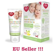 Gift + natural toothpaste for babies (0-3), apple-banana. Toothbrush inside
