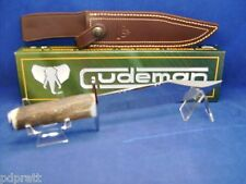 "Cudeman 11""  Stag Fixed Blade Bowie Knife Mint In Box With Leather Sheath 277-C"