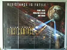 Cinema Poster: STAR TREK FIRST CONTACT 1996 (No Date Quad) Patrick Stewart