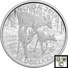 2014 WhiteTailed Doe and Her Fawn Proof $20 Silver Coin 1oz 9999 *No Tax (15285)