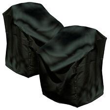 2pk Backyard Basics Waterproof Black Outdoor Patio Stacked Chair Covers PVC-Free