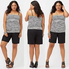 NEW! Lane Bryant Wave Stripe Tube Top Plus Size 26/28 4X ~Free Shipping~