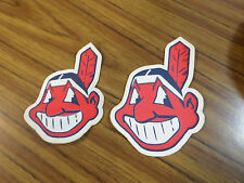 (2) Lot Of Cleveland Indians MLB Iron On Patches Sleeve / Jersey Patch