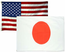 2x3 2'x3' Wholesale Combo USA American & Japan Japanese 2 Flags Flag