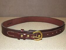 New Handmade Bridle Leather RANGER Jeans Belt Size 34 Brown