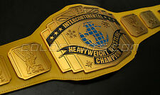 WWE Classic Intercontinental Championship Replica Belt Yellow Title 4mm Warrior