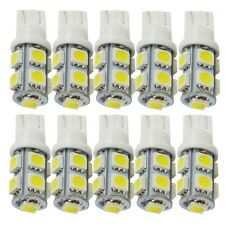 10X T10 LED White 194 168 W5W 9 SMD 5050 Car Interior Wedge Light Bulbs Lamp 12V