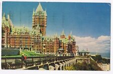 HOTEL CHATEAU FRONTENAC QUEBEC CANADA POSTCARD PMK & STAMP