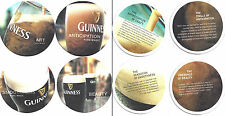 4x # Sous Bock GUINNESS Beer Coaster  Bier Deckel Collection PURE MAGIC