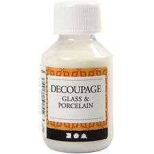 Decoupage Glass Porcelain Lacquer Sealing Glue 100ml Napkins/Paper Craft Make