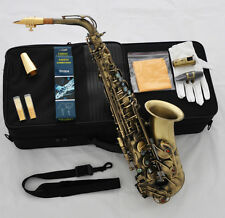 Professional Antique 54 Reference Alto Sax Saxophone High F# +Metal mouthpiece