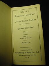 1931 Scott's Specialized Catalogue of United States Stamps Eighth Edition