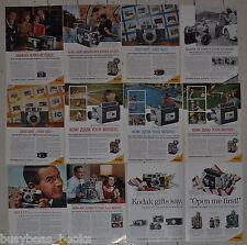 1960 KODAK advertisements x11, Retina Reflex projectors cameras 11 different ads