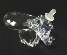 SWAROVSKI SILVER CRYSTAL DISNEY DUMBO ELEPHANT FROSTED HAT BLUE EYES W/BOX ~ MIB