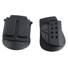 Black Quick Tactical Right Hand Holster & Magazine Pouch for Colt 1911 Retention