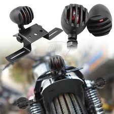 Black Grill Bullet Turn Signal Blinker Brake Rear Lights For Harley Sportster