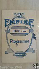 1934 Empire Nottingham Theatre Programme - WALTZES FROM VIENNA - Dorothy Fisher