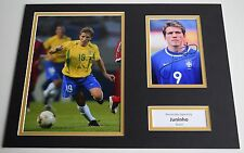 Juninho SIGNED autograph 16x12 photo display Brazil AFTAL COA