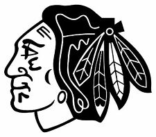 Chicago Blackhawks Car Vinyl Sticker Decal Hockey NHL