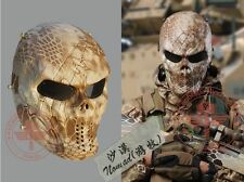 Ghost Skull Tactical Full Face Mask Tactical Field BB Game Airsoft Paintball