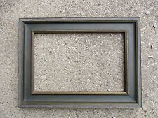Vintage Arts & Crafts era Wood Picture Frame with Glass fits 6-5/8 x 10
