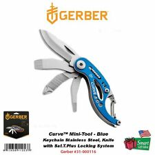 Gerber Curve Mini-Tool, Blue, Keychain Stainless Steel, Knife #31-000116