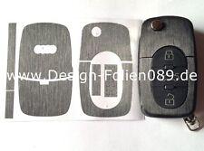 Noir Finition brossée clé Protection Audi TT 5B A4 S3 A3 A1 8e S4 8N 8P 8L A2 A6