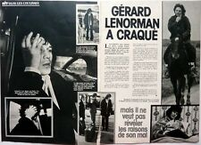 GERARD LENORMAN =  coupure de presse 2 pages 1977 //  FRENCH CLIPPING